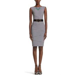 WHBM STRIPE INSTANTLY SLIMMING DRESS SIZE 6